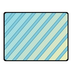 Blue elegant lines Double Sided Fleece Blanket (Small)