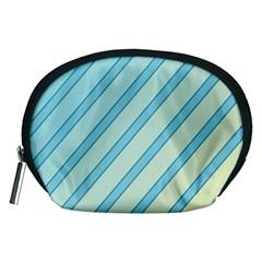 Blue elegant lines Accessory Pouches (Medium)