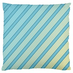 Blue elegant lines Standard Flano Cushion Case (One Side)