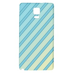 Blue elegant lines Galaxy Note 4 Back Case
