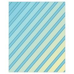 Blue elegant lines Drawstring Bag (Small)