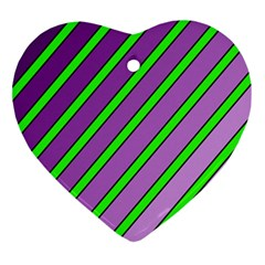 Purple and green lines Ornament (Heart)