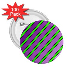 Purple and green lines 2.25  Buttons (100 pack)