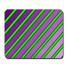 Purple and green lines Large Mousepads