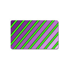 Purple and green lines Magnet (Name Card)