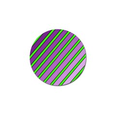 Purple and green lines Golf Ball Marker