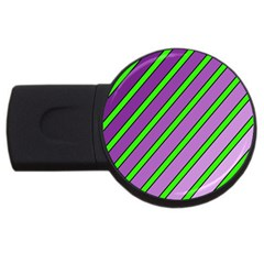 Purple and green lines USB Flash Drive Round (4 GB)