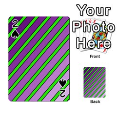 Purple And Green Lines Playing Cards 54 Designs