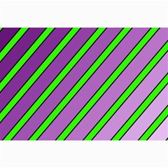 Purple and green lines Collage Prints