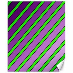 Purple and green lines Canvas 16  x 20