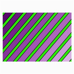 Purple and green lines Large Glasses Cloth (2-Side)