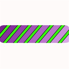Purple and green lines Large Bar Mats