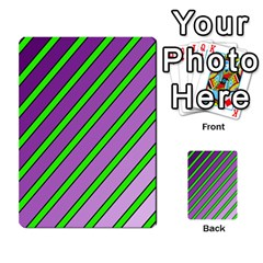 Purple And Green Lines Multi Purpose Cards (rectangle)
