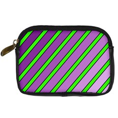 Purple and green lines Digital Camera Cases