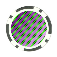 Purple and green lines Poker Chip Card Guards (10 pack)