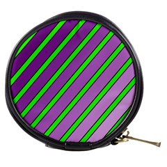 Purple and green lines Mini Makeup Bags