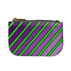 Purple and green lines Mini Coin Purses