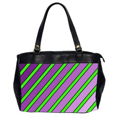 Purple and green lines Office Handbags (2 Sides)