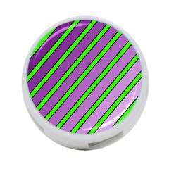 Purple and green lines 4-Port USB Hub (Two Sides)