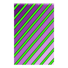 Purple and green lines Shower Curtain 48  x 72  (Small)
