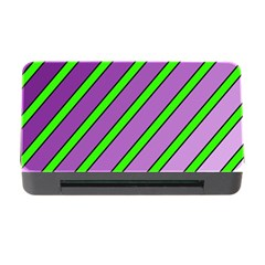 Purple and green lines Memory Card Reader with CF