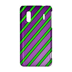 Purple and green lines HTC Evo Design 4G/ Hero S Hardshell Case
