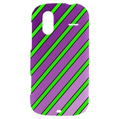 Purple and green lines HTC Amaze 4G Hardshell Case
