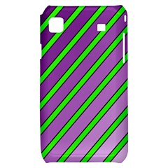 Purple and green lines Samsung Galaxy S i9000 Hardshell Case