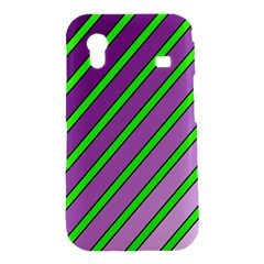 Purple and green lines Samsung Galaxy Ace S5830 Hardshell Case