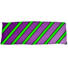 Purple and green lines Body Pillow Case Dakimakura (Two Sides)