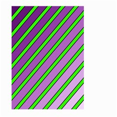 Purple and green lines Large Garden Flag (Two Sides)