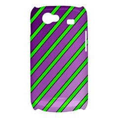 Purple and green lines Samsung Galaxy Nexus S i9020 Hardshell Case