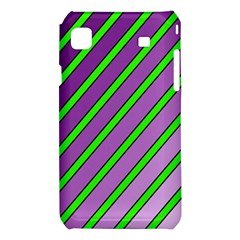 Purple and green lines Samsung Galaxy S i9008 Hardshell Case