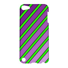 Purple and green lines Apple iPod Touch 5 Hardshell Case