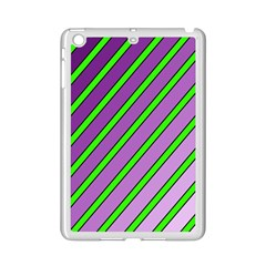 Purple and green lines iPad Mini 2 Enamel Coated Cases