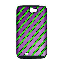 Purple and green lines Samsung Galaxy Note 2 Hardshell Case (PC+Silicone)