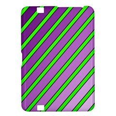 Purple and green lines Kindle Fire HD 8.9