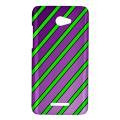 Purple and green lines HTC Butterfly X920E Hardshell Case