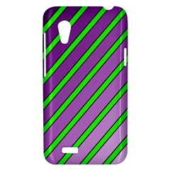 Purple and green lines HTC Desire VT (T328T) Hardshell Case