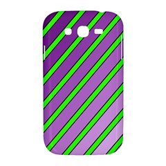Purple and green lines Samsung Galaxy Grand DUOS I9082 Hardshell Case