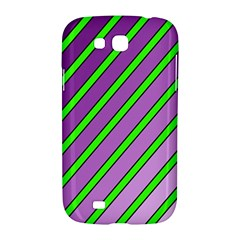 Purple and green lines Samsung Galaxy Grand GT-I9128 Hardshell Case