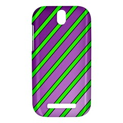 Purple and green lines HTC One SV Hardshell Case
