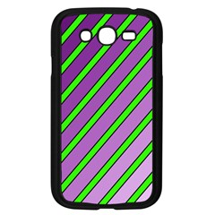 Purple and green lines Samsung Galaxy Grand DUOS I9082 Case (Black)