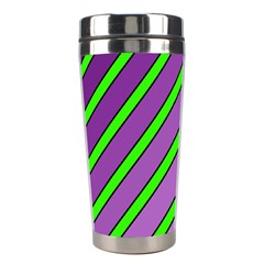 Purple and green lines Stainless Steel Travel Tumblers