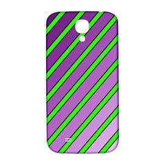 Purple and green lines Samsung Galaxy S4 I9500/I9505  Hardshell Back Case