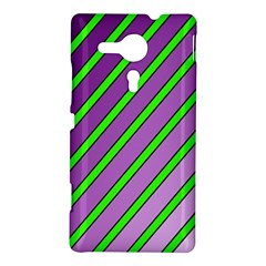 Purple and green lines Sony Xperia SP