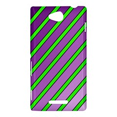 Purple and green lines Sony Xperia C (S39H)