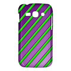 Purple and green lines Samsung Galaxy Ace 3 S7272 Hardshell Case