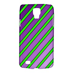 Purple and green lines Galaxy S4 Active
