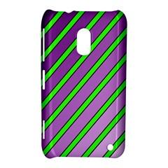Purple and green lines Nokia Lumia 620